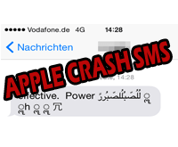 Apple Crash Text Message sorgt für Probleme