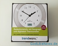 Badezimmeruhr mit Saugnapf & Thermometer - Review