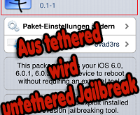 Cydia evasi0n 6.x Untether - Aus tethered wird untethered Jailbreak