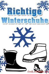 Das richtige Schuhwerk für die Winterzeit
