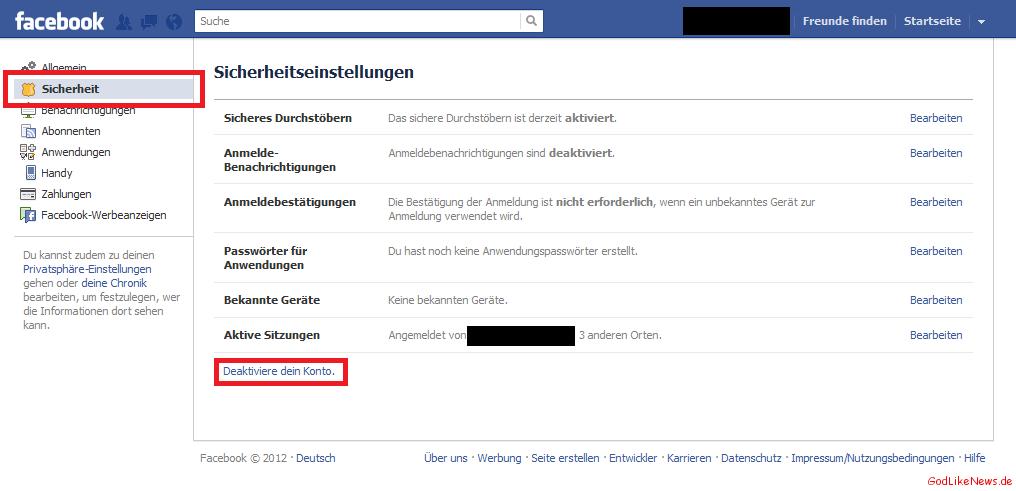Facebook Löschen Sofort