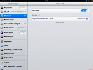 Logitech Ultrathin iPad Tastatur - Bluetooth Synchronisation