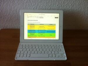 Logitech Ultrathin iPad Tastatur - mit Pages schreiben