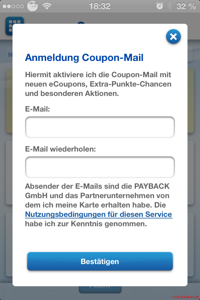 Payback coupons dm