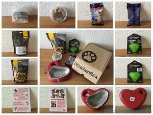 Bildcollage - PfötchenBox Januar - Valentinstag-Edition 2016