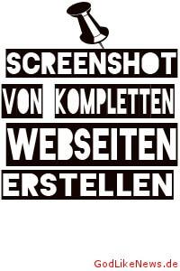 Screenshot von kompletten Webseiten erstellen