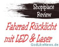 Shopiplace Review - Fahrrad Ruecklicht LED Laser