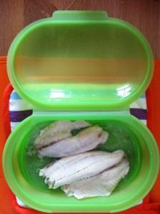 Silikon Dampfbox von Tchibo Fisch gegart1 224x300 Silikon Dampfbox von Tchibo   Erfahrungstest