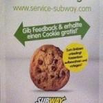 Subway Gutschein - Gib Feedback und erhalte einen Cookie gratis - Artikelbild
