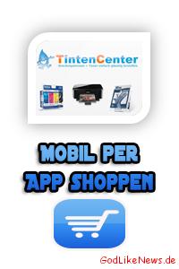 TintenCenter App - Druckerpatronen und Toner mobil per Handy Smartphone App kaufen bestellen