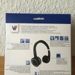 V7 Bluetooth Kopfhoerer Headset mit NFC Verpackung hinten