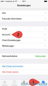 WhatsApp Speichernutzung 1