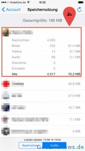 WhatsApp Speichernutzung 3