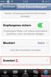 WhatsApp Zuletzt Online Last Seen Status ausschalten iPhone