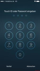 iOS - TouchID oder Passcode eingeben