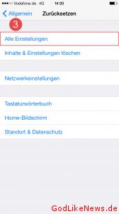 iPhone iPad iPod zuruecksetzen 2