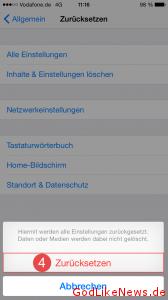 iPhone iPad iPod zuruecksetzen 3